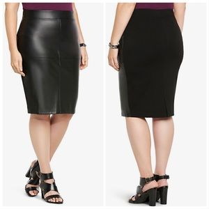 TORRID Faux Leather Midi Skirt